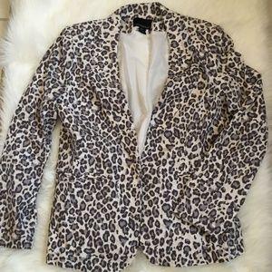 cynthia rowley animal print blazer jacket